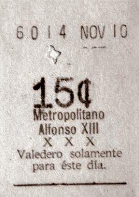 primer billete de metro - Metro de Madrid y la evolución de sus tarjetas de transporte